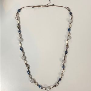 Premier designs leather beaded necklace